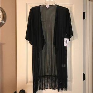 NWT Lularoe Black Monroe Kimono